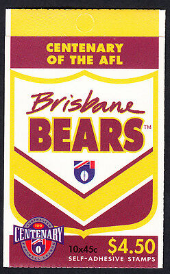 Australia 1996 Centenary of AFL Footy Booklet  10 Stamps Brisbane Bears