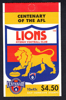 Australia 1996 Centenary of AFL Footy Booklet  10 Stamps Fitzroy Lions