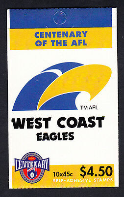 Australia 1996 Centenary of AFL Footy Booklet  10 Stamps West Coast Eagles
