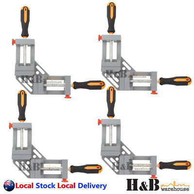 4 Pcs 90° Corner Clamp Welding Vice Woodworking Alloy Body Quick Release T0231