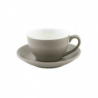 36x Cappuccino Cup & Saucer Set Stone Grey 200mL Bevande Tea Coffee Cups