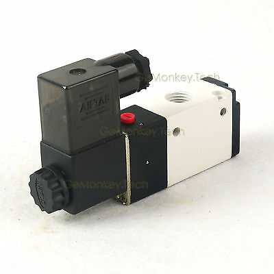 "3V210-08 G1/4"" 3 Way 2 Position Electric Solenoid Pneumatic Air Valve 110VAC"