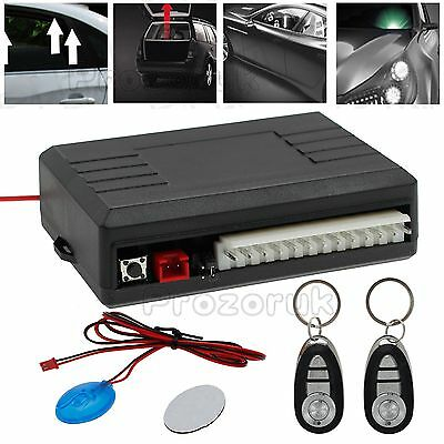 2 Remote Universal Car Central Kit Door Lock Vehicle Keyless Entry System Alarm