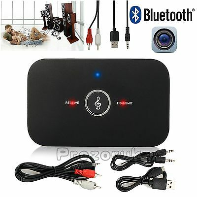 2 in1 Wireless Bluetooth Stereo Music Transmitter Receiver Adapter 3.5mm RCA AUX