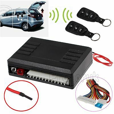 Universal Car 2 Remote Central Kit Security Locking Vehicle Keyless Entry System