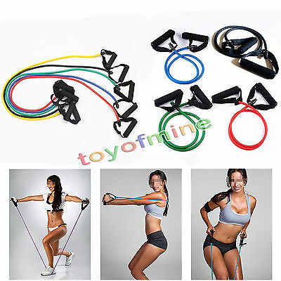 Bandes de résistance exercice latex pilates tube workout yoga fitness stretch