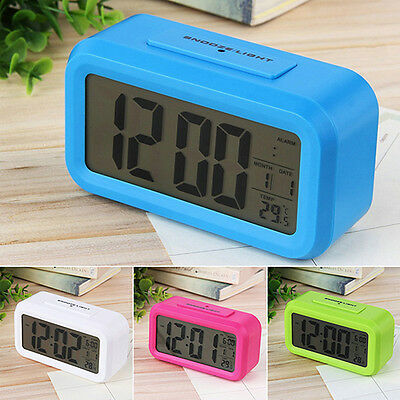 Led Digital Alarm Clock Backlight Time With Calendar Thermometer Glamorous