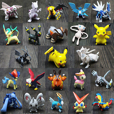 24Pcs For Pokemon Action Figures Toys Small Cartoon Anime Mixed For Children