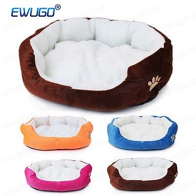 Comfy Fleece Puppy Pet Dog Cat Bed House Basket Nest Kitten Mattress Cushion