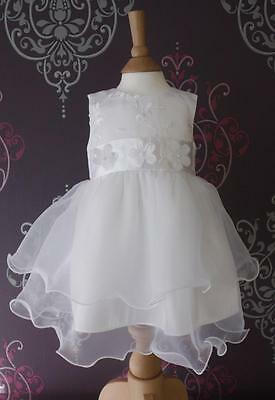 Christening Flower Girl Wedding Party Dress White/ivory Baby Satin & Lace Ivy