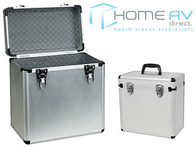 "Aluminium 12"" Vinyl Lp Record Hard Flight Case Storage Box Holds X 50 - Free P&p"