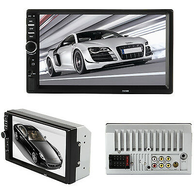 "7"" HD Touch Screen 2DIN Car Stereo Radio Bluetooth FM EQ MP3 MP5 Player Aux-in"