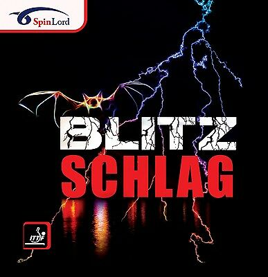 Spinlord Blitz Schlag Long Pimple Table Tennis Rubber Official Uk