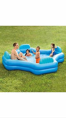 FAMILY LOUNGE POOL Summer Outdoor Inflatable Intex Swim Center Swimming Pool New