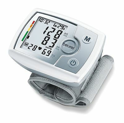 Beurer BC31 Wrist Blood Pressure Heart Rate Beat Monitor, White