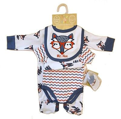 5 Piece Baby Boys Layette Clothing Outfit Gift Set Fox Design by Lily & Jack