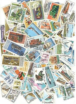 200 Trains, Planes & Ships Stamps All Different Nice Lot