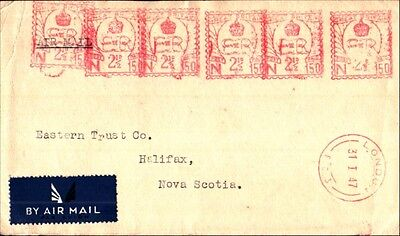 Great Britain Front half of Cover to Canada Metered Mail 1947
