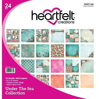 "Heartfelt Creations Under The Sea Double-Sided Paper Pad 12""X12"" 24/Pkg"
