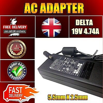 New Delta Adapter For Msi Ms-1632 19V 4.7A 90W Ac Adapter Charger Power Unit