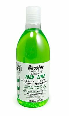 Barbershop Classics Booster ICED LIME Aftershave Lotion (400ml/14oz)