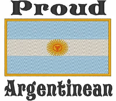 Proud Argentinean Argentina Flag  Baby Bodysuit Embroidered