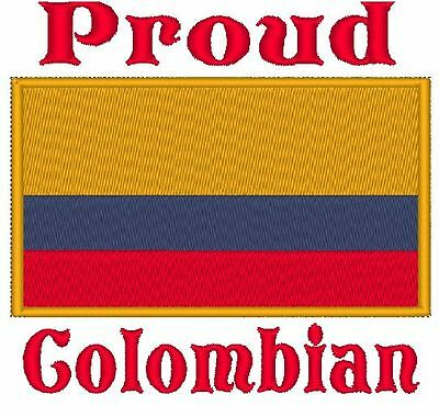 Proud Colombian Colombia Flag Baby Bodysuit Embroidered