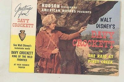 1955 Hudson Davy Crockett Walt Disney Comic Book Brochure ww1004