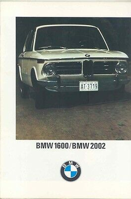 1968 BMW 1600 2002 US Brochure ww1005