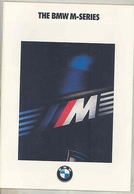 1990 BMW M3 E30 M5 E34 US Prestige Brochure ww1010