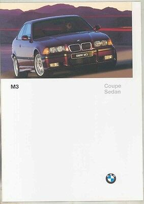 1997 BMW M3 E36 Coupe Sedan US Brochure ww1012