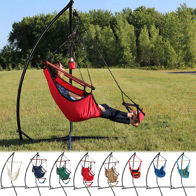 Sunnydaze Durable X Stand & Hanging Hammock Chair Stand Combo - Choose Options