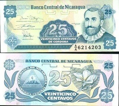 Nicaragua 25 Centavos ND (1991) Pick 170 UNC