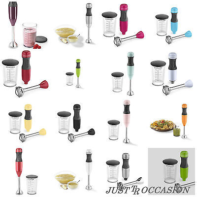 "Handheld Mixing Wand Blender 2 Speed Removable 8"" Blending Arm Soft Grip Handle"