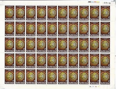 Stamps Norfolk Island 1969 Christmas 5c issue in complete sheet of 50, MUH