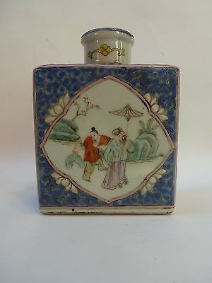 Chinese Porcelain Polychrome Tea Caddy