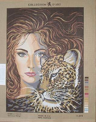 Collection d'Art Needlepoint Wolf, Tiger, Leopard, Panther Choose from 5 designs