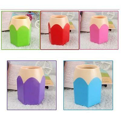 Pencil Makeup Brush Holder Pen Cup Box Desk Organizer Kids Gift New