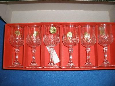 STUNNING 24% LEAD CRYSTAL SHERRY GLASSES X 6 CRISTAL d'ARQUES FRANCE