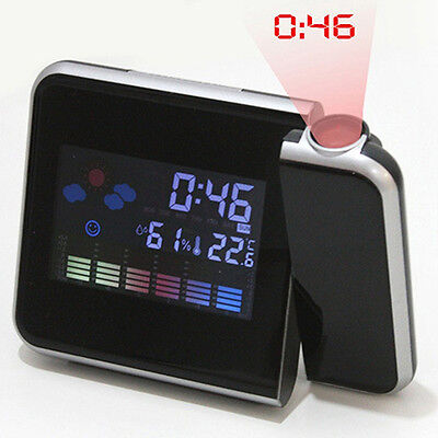 Newest Digital Projection Snooze Alarm Clock Led Backlight Weather Station