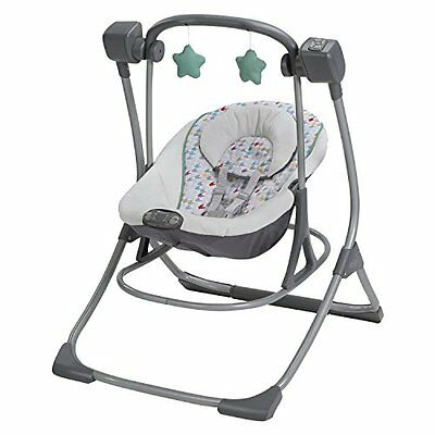 Graco Cozy Duet BABY SWING, Portable 2 In 1 Baby Swing Plus ROCKER, Lambert