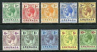 GRENADA-1913-22 A mounted mint set to 10/- Sg 89-101