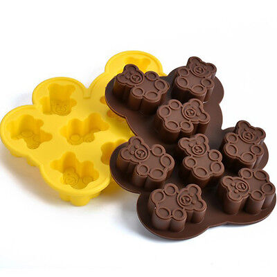 Hot sale DIY Household Bear Shape Pudding Jelly Silicone Tray Maker Mould Mold