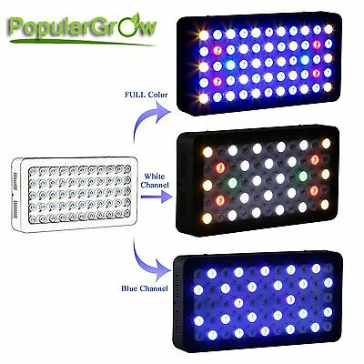 PopularGrow Wifi timer Dimmable 165W LED Aquarium Light Reef Coral Fish Tank LPS