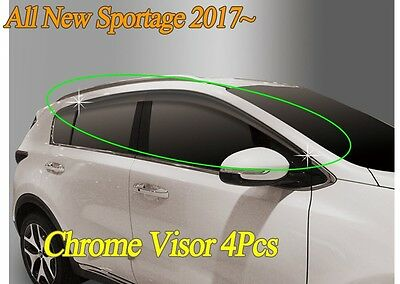 Smoked Black Window Vent Visor Rain/Sun Shield D072 for KIA Sportage 2017~2020