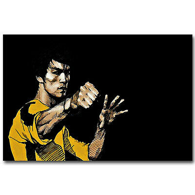 Bruce Lee Kung Fu Motivational Silk Poster 12x18 24x36 inch 04
