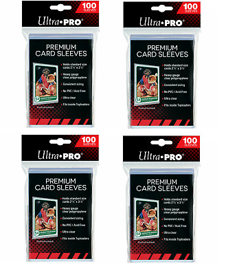 Ultra PRO Platinum Premium Card Soft Sleeves Clear Protector 4 Packs 100 Pokemon