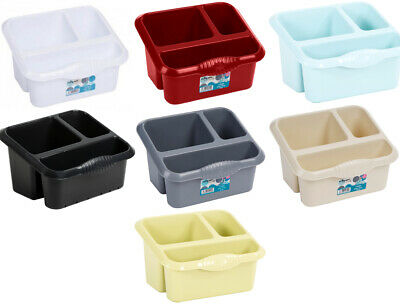 Wham Large Plastic SINK TIDY Drainer Kitchen Organizer Caddy Cleaning Cutlery