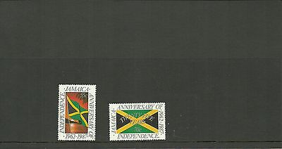 Jamaica Sg 694-695-25Th Anniversary Of Independence  Mnh