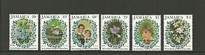 Jamaica Sg558-563- Birth Of Prince William Of Wales Mnh